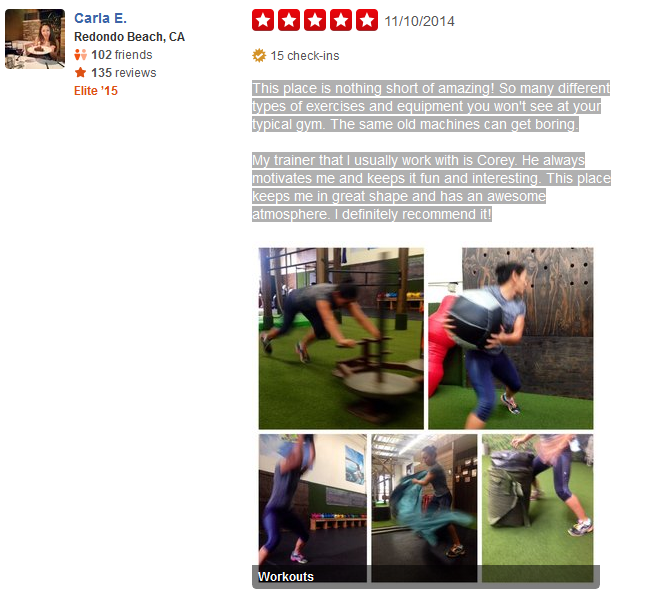 Costa Mesa personal training review