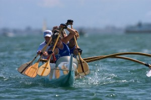 Patty Datan Paddling and Outrigger Canoe with Her team