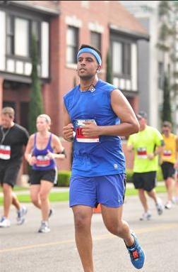Vishal LB half marathon