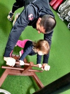 Master Coach Aaron with his daughter Hannah.