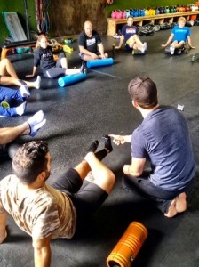 orange county personal trainer teaching recovery, self myofascial release, and stretching