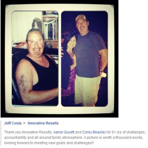 Jeff Costa FB Testimonial