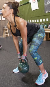 Jennifer Lifting with Kettlebell