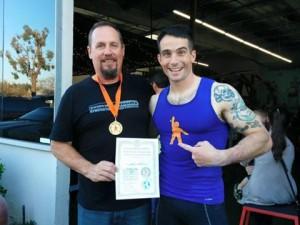 Jeff Costa Award with Aaron